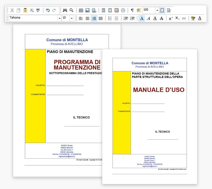 Stampa Piano Manutenzione - ManTus
