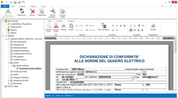 Nuove tipologie di impianto - Praticus-378/08 - ACCA software