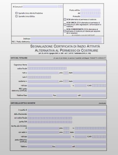 SCIA alternativa - Modello PDF editabile