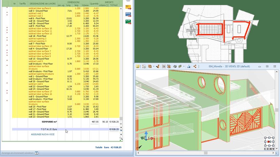 PriMus-DCF, integri il computo metrico con il BIM