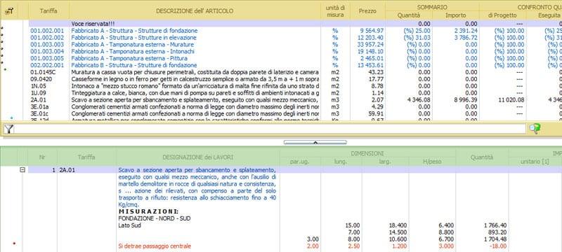 Elaborati di computo metrico estimativo - PriMus-DCF
