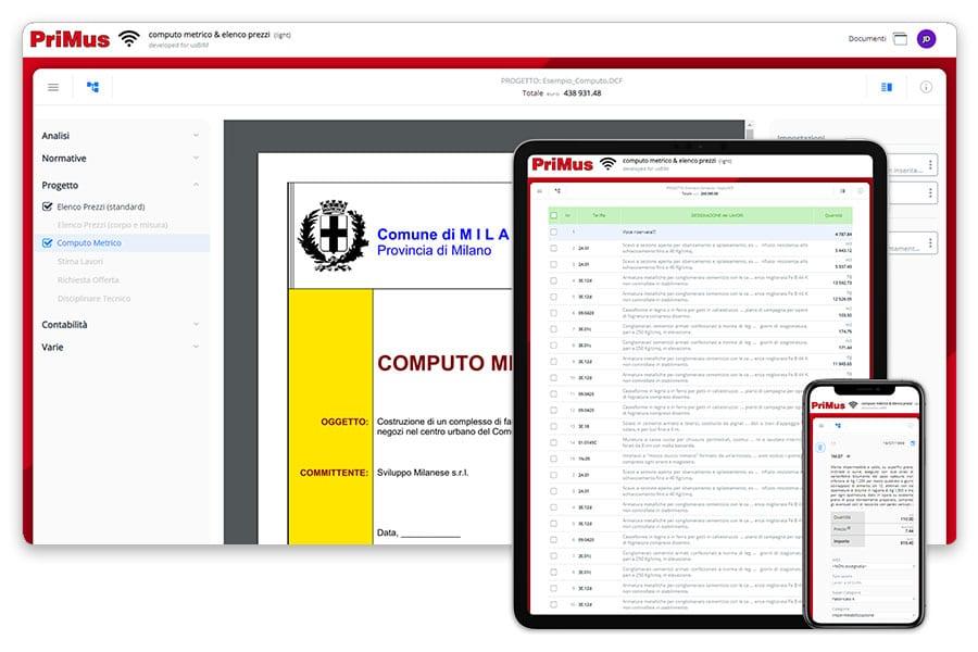 Orçamento em dispositivos móveis | PriMus on-line | ACCA software