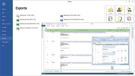 PriMus - Esportazioni computo Word ed Excel