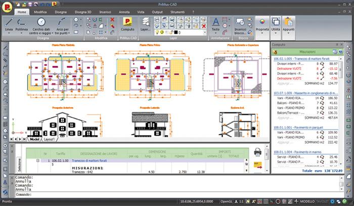 Software CAD con Computo metrico - PriMus-CAD - ACCA software