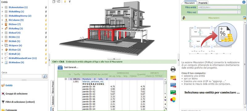 Computo metrico direttamente dai modelli BIM