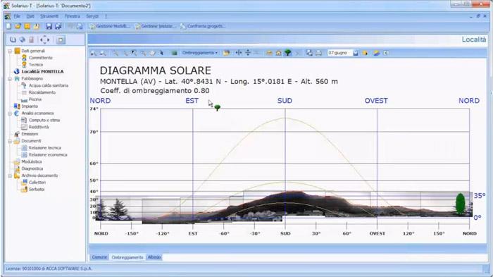 Software progettazione pannelli solari termici - Solarius-T - ACCA software