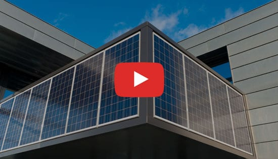 Impianto fotovoltaico su facciata - Esempio