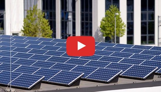 Impianto fotovoltaico su un terrazzo piano - Esempio