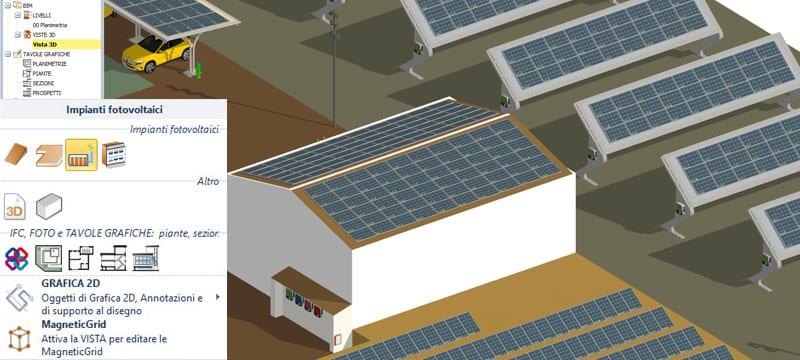 Input 3D per modellare l'impianto fotovoltaico