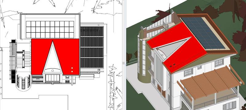 Integrazione dell'impianto fotovoltaico con il modello BIM e il progetto architettonico