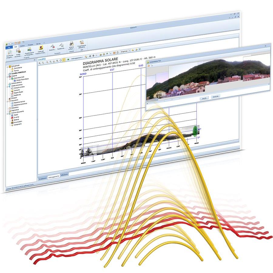 Ombreggiamento fotovoltaico - Solarius-PV - Software fotovoltaico