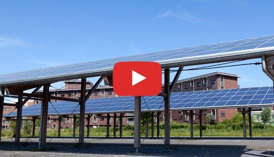 Pensilina fotovoltaica (parcheggio) - Esempio