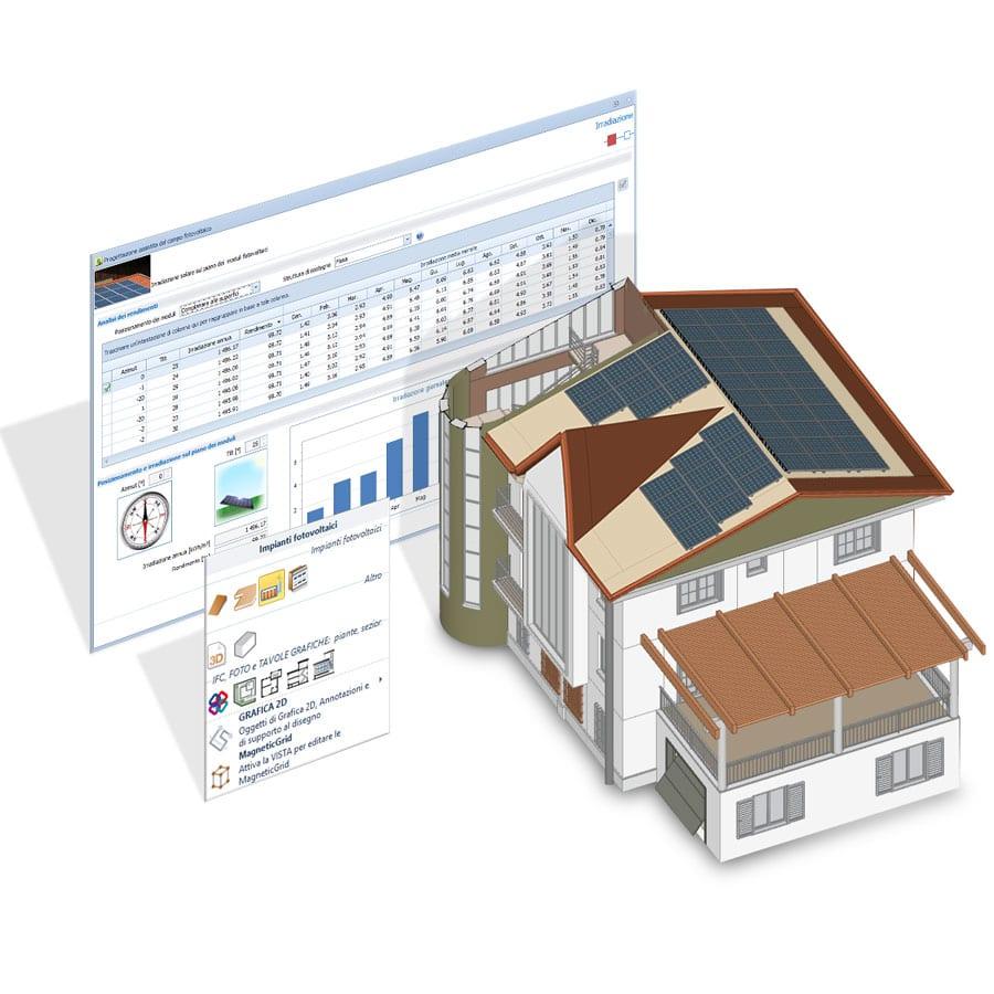 Progettazione 3D - Solarius-PV - Software fotovoltaico