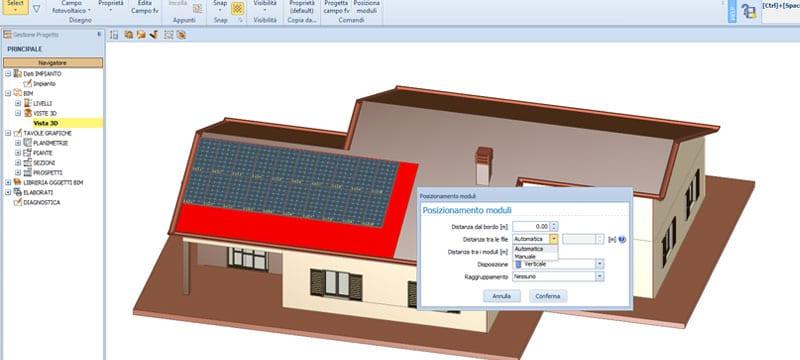 Progettazione assistita del campo fotovoltaico - Solarius-PV