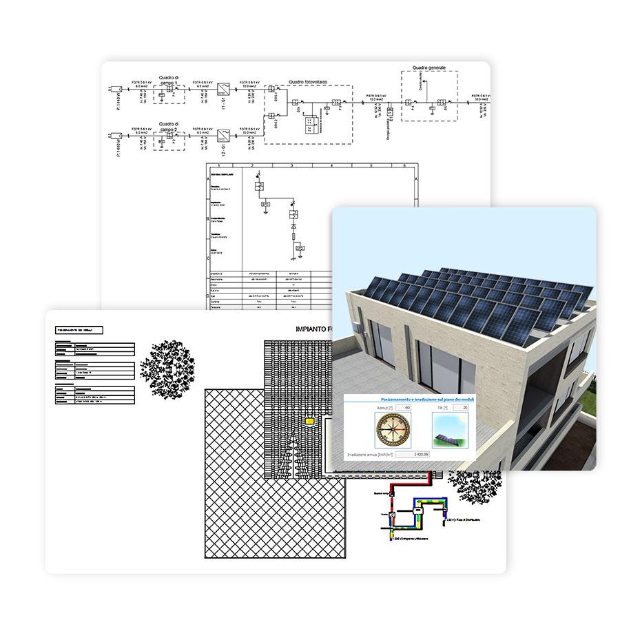 Schema unifilare - Solarius-PV - Software fotovoltaico