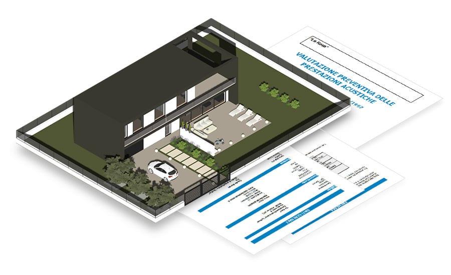 Relazione tecnica, Certificazione acustica Previsionale e relazione di Comfort Acustico