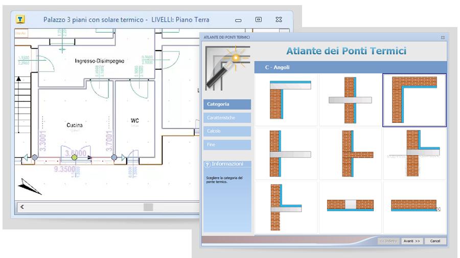 Procedura guidata per il calcolo dei ponti termici con TerMus-PT di ACCA software