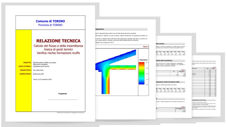 Relazione tecnica di calcolo dei ponti termici con TerMus-PT di ACCA software