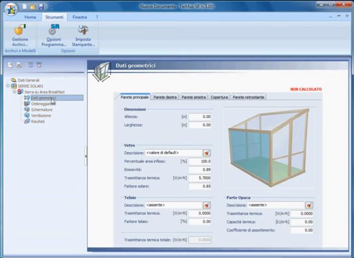 Software Serre solari - TerMus-SR - ACCA software