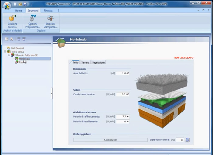 Software Tetti Verdi - TerMus-TV - ACCA software