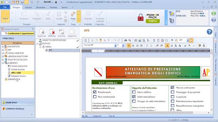 Software APE (Attestato di Prestazione Energetica) - TerMus CE - ACCA software