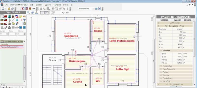 Dimensionamento dell'impianto termico