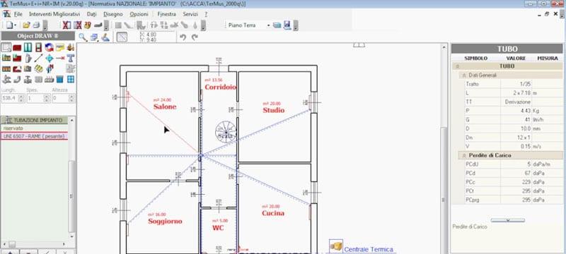 Progettazione con input ad oggetti con una o più colonne montanti