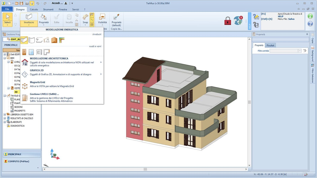 Modellazione energetica BIM - TerMus - ACCA software