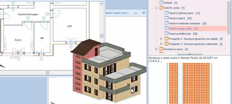 Progettazione 2D/3D del modello energetico