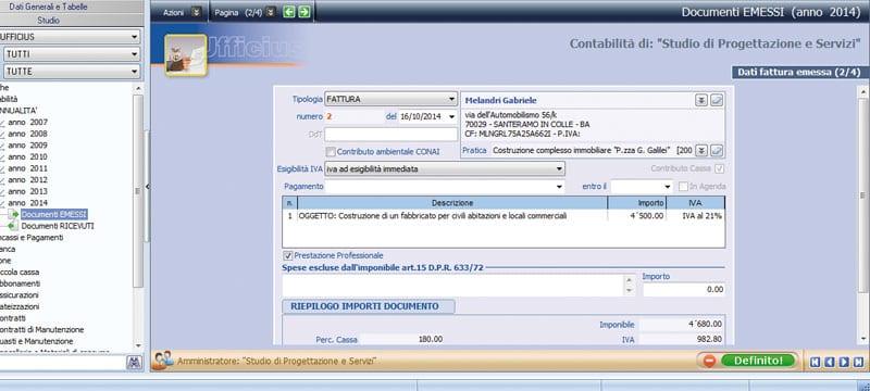 Gestione non fiscale della contabilità - Ufficius - ACCA software