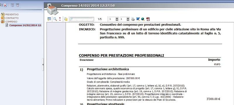 Gestione dei Preventivi e del Compenso - Ufficius - ACCA software