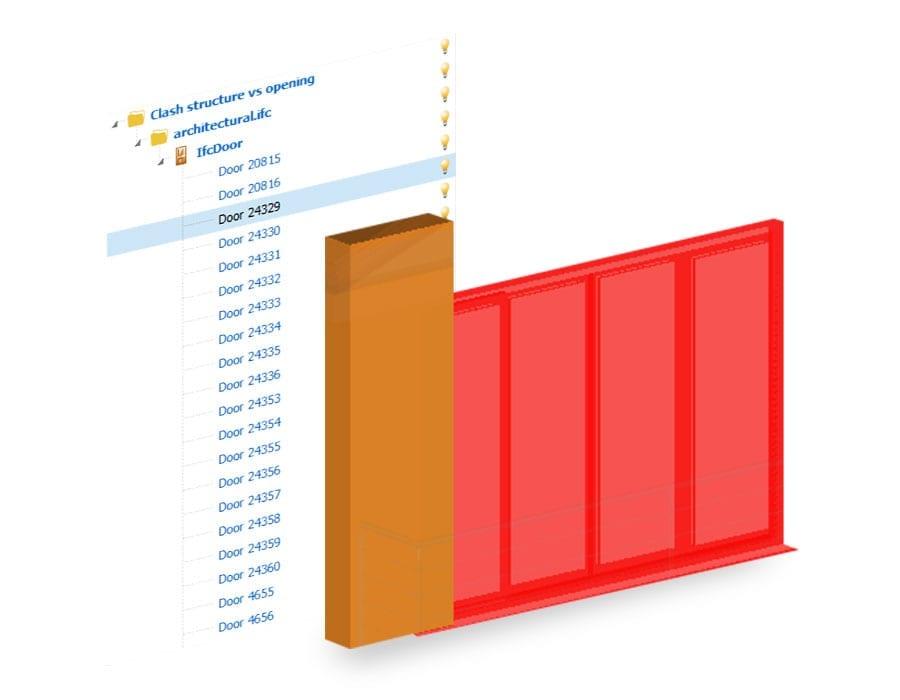 Gruppi e filtri di selezione sul file IFC ti aiutano a fare una clash detection potente da usare ogni volta che vuoi
