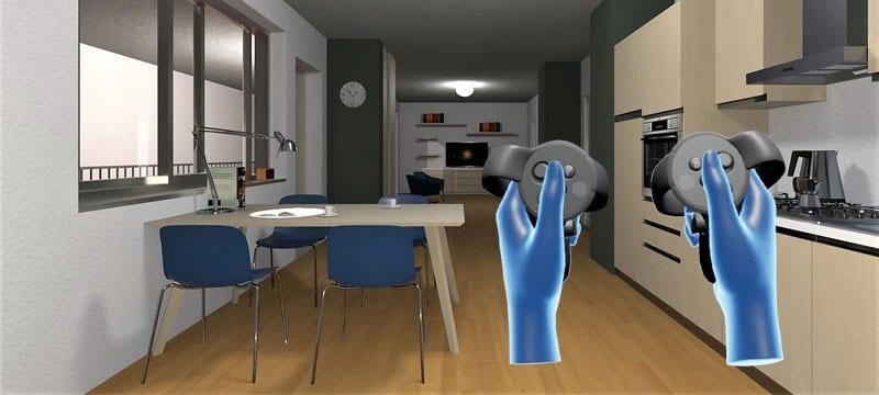 Modello IFC in realtà virtuale immersiva