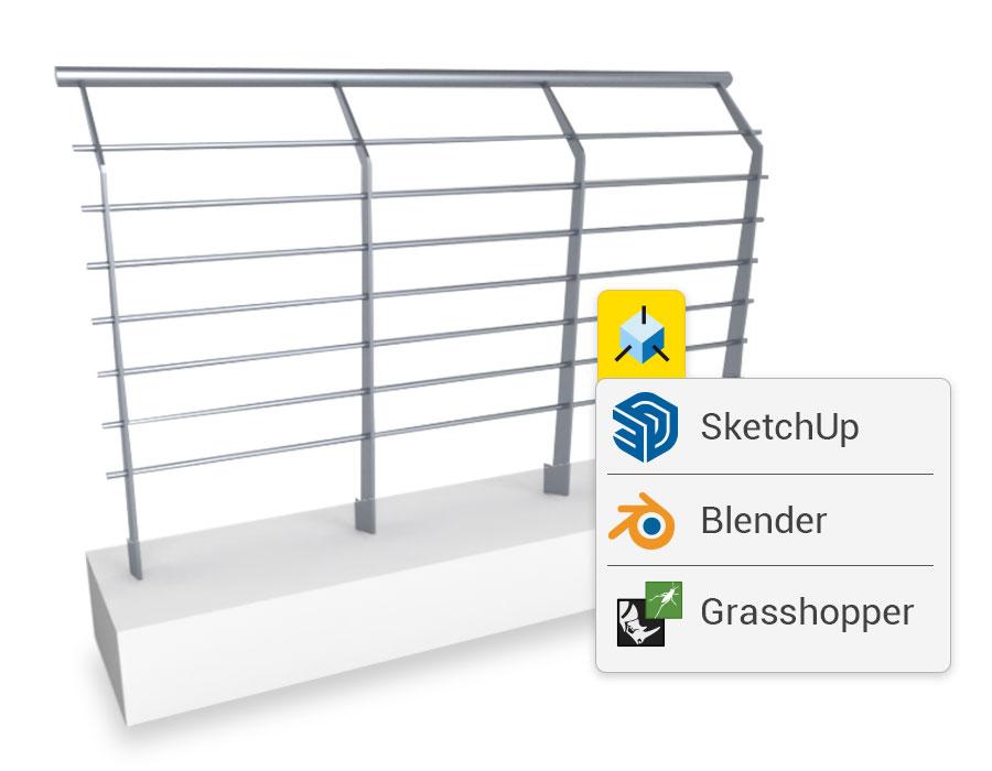 Integrazione con SketchUp e Blender