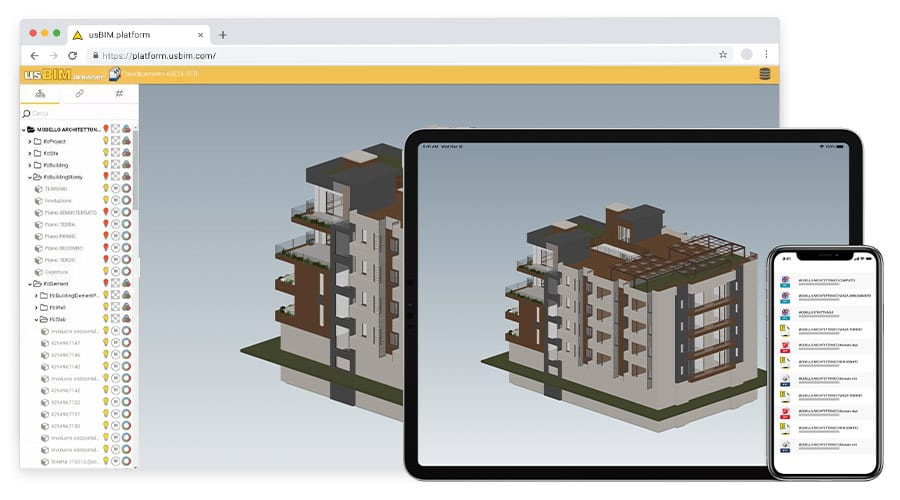 usBIM.browser - Visualizzazione e gestione file IFC su browser