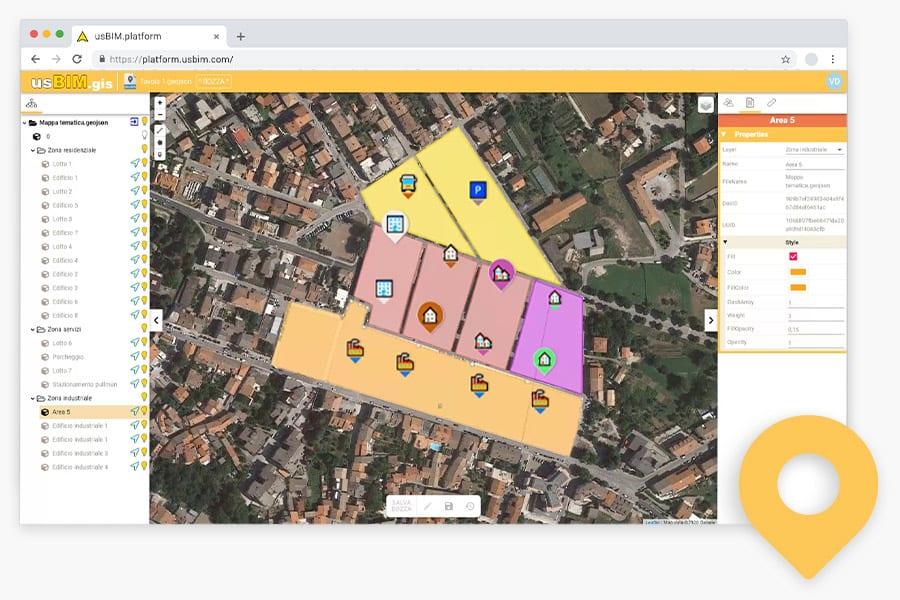 usBIM.gis - Mappe tematiche GIS