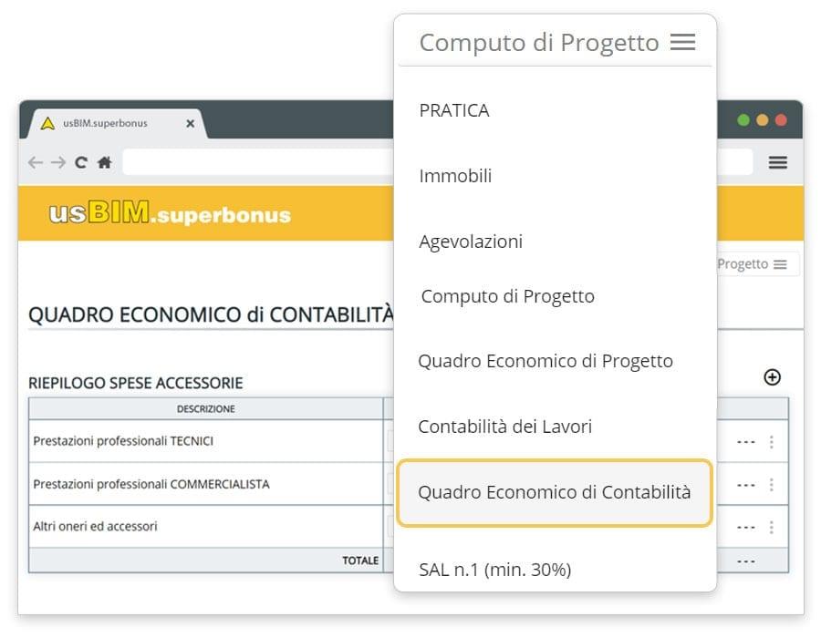 Contabilità dei lavori | usBIM.superbonus | ACCA Software