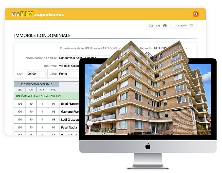 Tipologia di immobile e criterio di ripartizione delle spese | usBIM.superbonus | ACCA Software