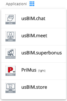 Menu Applicazioni | usBIM.superbonus | ACCA software