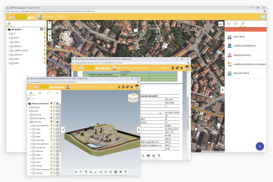 aggiungi file e link alla mappa GIS | usBIM.gis | ACCA software