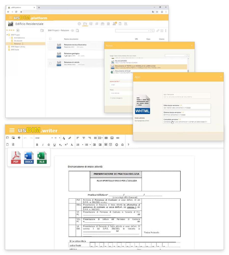 Verbali, report, relazioni, note, checklist online | usBIM.writer | ACCA software