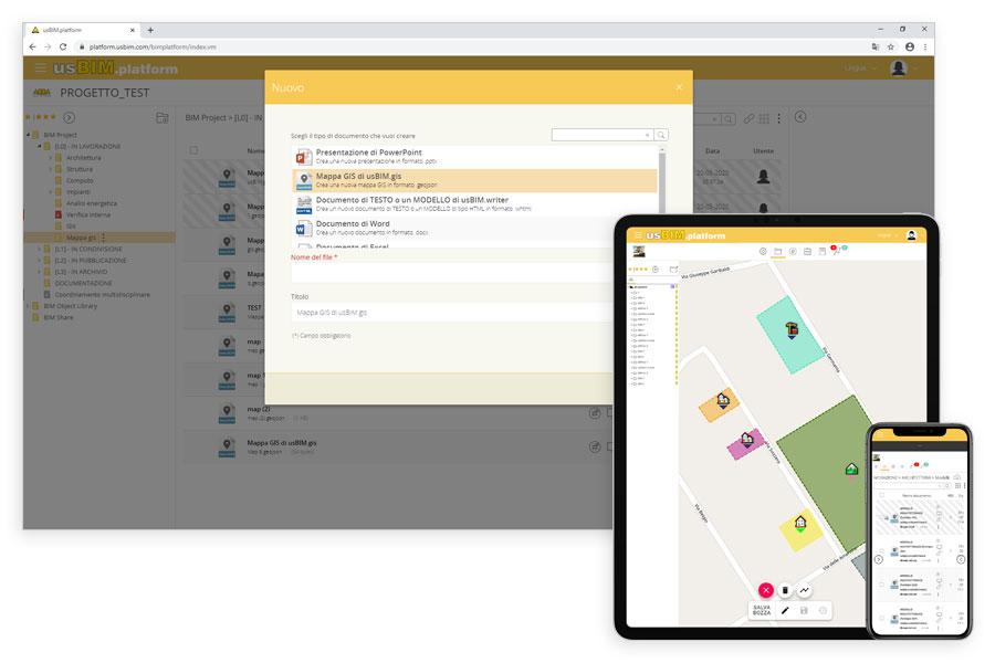 Creazione online delle mappe GIS e compatibilità con tutti i dispositivi | usBIM.gis | ACCA software