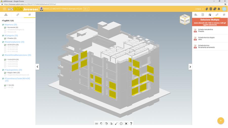 Gestione modello IFC su browser | usBIM.browser | ACCA Software