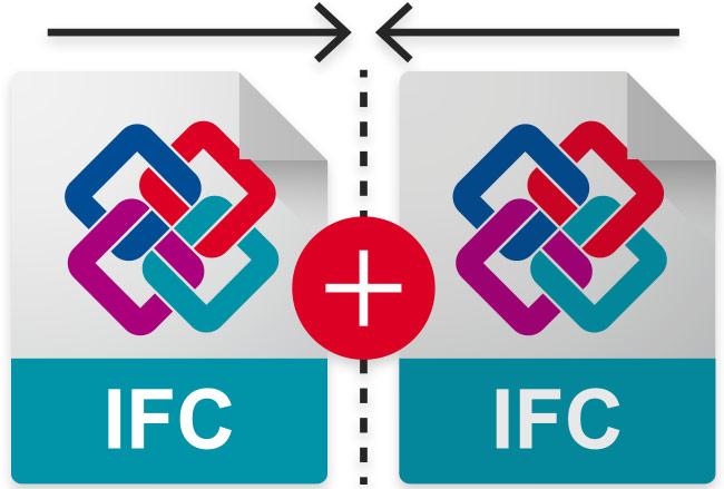 Merge elements of several BIM models into IFC files | usBIM.merge | ACCA software