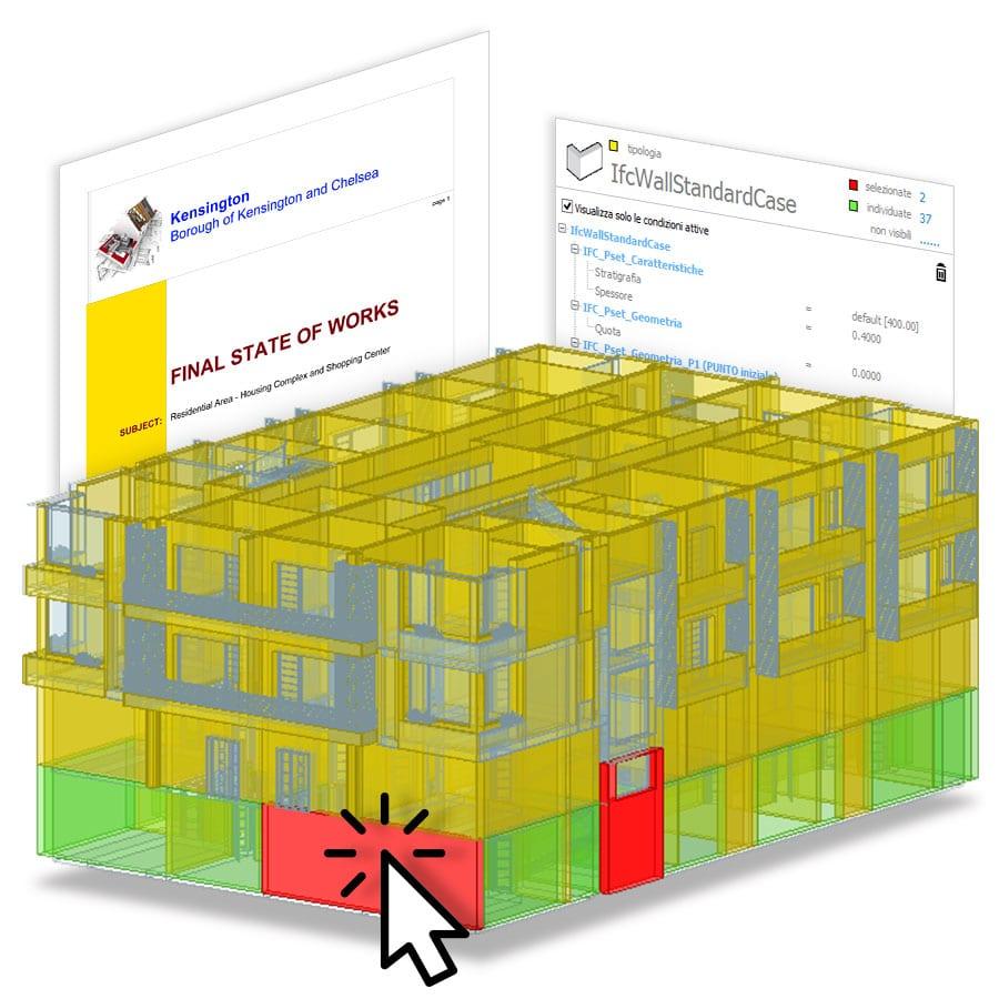 5D-BIM Software automatische und visuelle Mengenermittlung | PriMus IFC | ACCA software