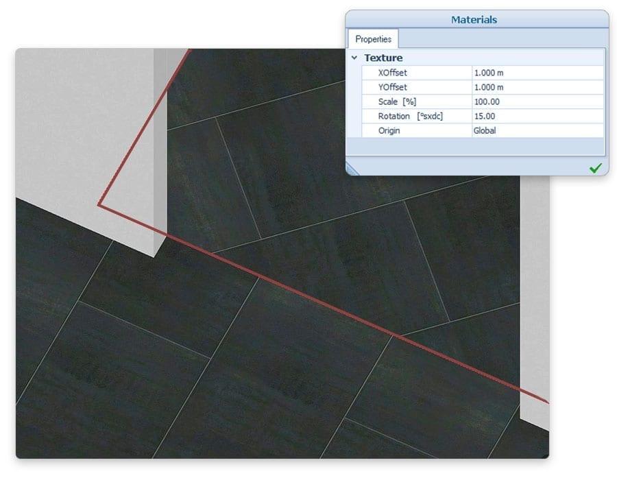 Texturas de materiales | Edificius | ACCA software
