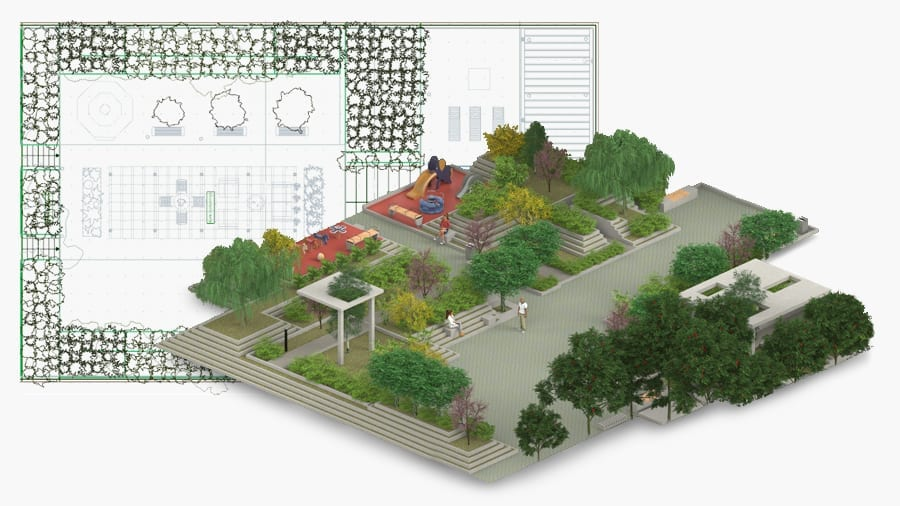 Design gardens 2D/3D | Edificius LAND | ACCA software
