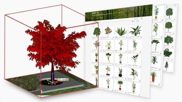 Complete terrain model with trees, roads and furniture | Edificius LAND | ACCA software