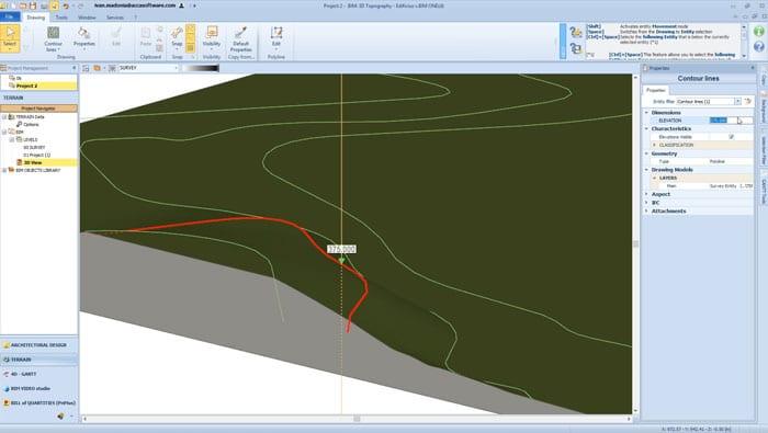 Free terrain modeling | Edificius LAND | ACCA software