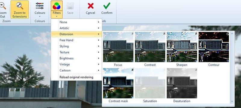 Automatic rendering | Edificius | ACCA software